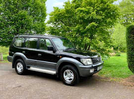 Toyota LAND CRUISER COLORADO, 2002 (52) Black 4x4, Automatic Diesel, 97,000 miles