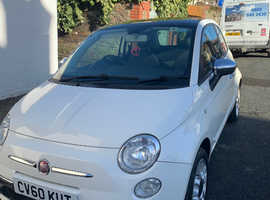 Fiat 500 SPORT, 2010 (60) White Hatchback, Manual Petrol, 65,000 miles