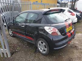 Peugeot 207, 2009 (09) Black Hatchback, Manual Petrol, 81,000 miles