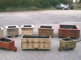 HANDMADE GARDEN PLANTERS FROM RECLAIMED TIMBER. FREE LOCAL DELIVERY