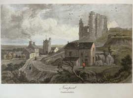 Antique Etching - Newport, Pembrokeshire, Wales