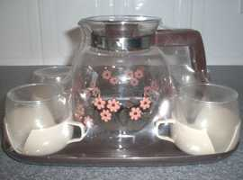 Teapot, tray and 4 cups new factory packaged