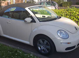 Volkswagen Beetle, 2008 (08) Beige Convertible, Manual Petrol, 99,000 miles