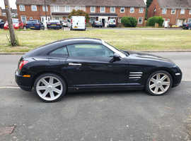 Chrysler Crossfire, 2004 (04) Black Coupe, Manual Petrol, 94,000 miles