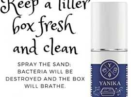 Yanika Natural Antibacterial spray for litter boxes. Large pack 3x in gift bag, 3 months supply.