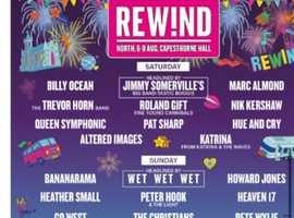 REWIND FESTIVAL TICKETS X3  07/08/2021