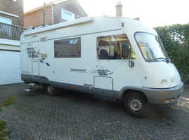 Hymer Starline B640 A Class Mercedes. R/H Drive, Rear Wheel Drive, 2.9Ltr Sleeps 5.   3500kg. rated. 25mpg.