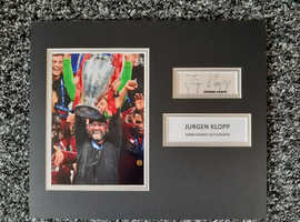 jurgen klopp full name signed 12x10 mounted display photo rare.
