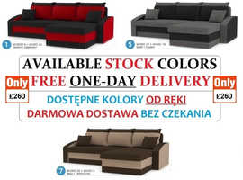 BIG SALE FURNITURE CORNER SOFA BED (SPRINGS) £260 ! WALL UNIT TV SET from £90 1-DAY FREE DELIVERY !