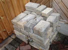 Bradstone bricks surplus to requirement, approx 40 various sizes. Free to collect. Unused.