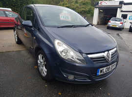 Vauxhall Corsa, 2008 (08) Blue Hatchback, Manual Diesel, 48,000 miles