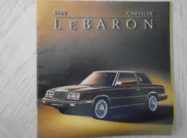 Chrysler Le Baron 1984 Brochure