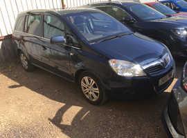 Vauxhall Zafira, 2011 (61) Blue MPV, Manual Diesel, 94,000 miles