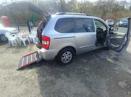 Automatic Kia Sedona Brook Miller Mobility Wheelchair WAV with Wilson Healy remote ramp and tailgate, level 2 model 2.2CRD