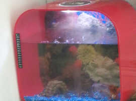 Biorb 30l fish tank chilli red and 2 cold water fish