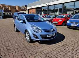 Vauxhall Corsa, 2014 (14) Blue Hatchback, Manual Petrol, 13,919 miles