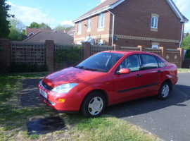 Ford Focus, 1999 (V) Red Saloon, Manual Petrol, 138,656 miles