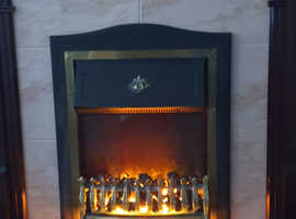 Electric fire and fire place with coal