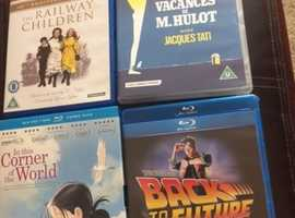 Assorted Cult Blu Rays Incl The Railway Children, Cleopatra, Les Vacances De M. Hulot etc