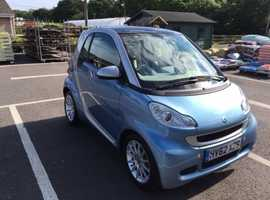 Blue 2012 Diesel Smart Car Passion with SmartTow Electronic Vacuum Braked A-Frame