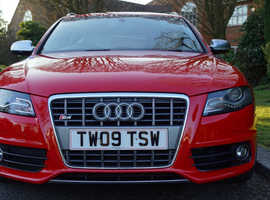 Audi S4, 2009 (09) red estate, Automatic Petrol, 87000 miles