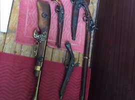 Replica pistol,rife and blunderbuss
