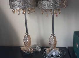 2 dunelm lamps