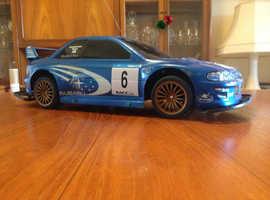 SUBARU RALLY CAR (MODEL) RADIO CONTROLLED CAR 2 DOOR MODEL HIGH WING SPOILER ROOF AERIAL