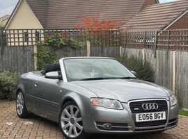 Audi A4, 2006 (56) Grey Convertible, Manual Diesel, 133,850 miles