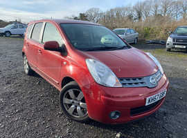 Nissan Note, 2007 (57) Red MPV, Manual Petrol, 89,259 miles