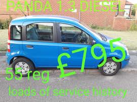 Fiat Panda, 2005 (55) Blue Hatchback, Manual Diesel, 119,000 miles