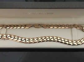 solid 9ct gold curb necklace