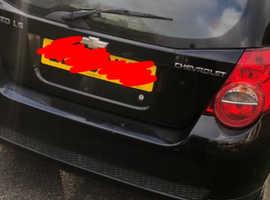 Chevrolet Aveo, 2009 (59) Black Hatchback, Manual Petrol, 65,500 miles