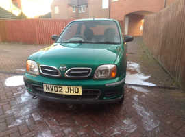 Nissan Micra, 2002 (02) Green Hatchback, Manual Petrol, 96,124 miles