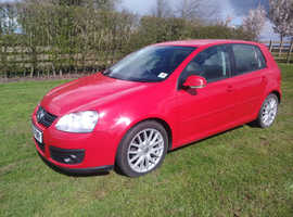 VW Golf GT 2006 TDI Red FSH Lots Of Receipts Timing Belt Replaced Excellent Condition Throughout
