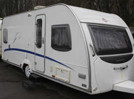 Burstner Belcanto 500TS 2007 4 Berth Fixed Bed Caravan + Motor Movers + Porch Awning