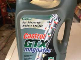 Engine oil ,Castrol  magnatec 10w 40,4.5 litres unopened .