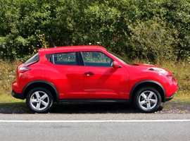 Nissan Juke, 2015 (15) Red Hatchback, Manual Petrol, 34,000 miles, 01443 831670