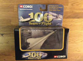VINTAGE CORGI SHOWCASE COLLECTION CONCORDE 'landor' Livery CS90280 plane