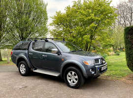 2007 MITSUBISHI L200 ANIMAL-2.5 DI-D AUTO! 160BHP, GREY, LEATHER INTERIOR! 6 MONTHS ENGINE & GEARBOX WARRANTY! PX WELCOME!