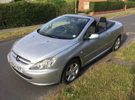 Peugeot 307, 2004 (04) Silver Coupe, Manual Petrol, 95,800 miles