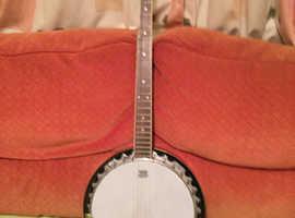 Five string Hudson blue grass banjo for sale