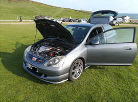 Honda Civic type r, 2005 (54) Grey Hatchback, Manual Petrol, 98,900 miles