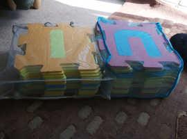 Two packs alphabet playmats