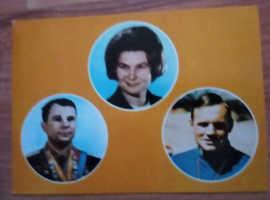 Russian astranots postcards