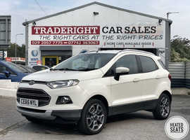 2015/65 Ford Eco-Sport 1.0 Turbo Titanium finished in Frozen White.  47,629 miles