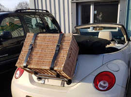 VW Convertible Beetle (2001 to 2010) Roof Rack & Basket With Custom Made Straps