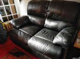 2 Ekorness Leather Recliner chairs