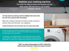 Stabilize your Washer/Dryer for Good!  This really works. Over 1,000 5 star reviews.