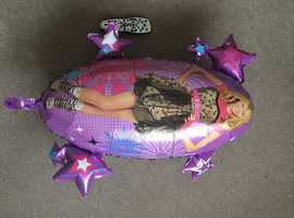 Large Hanna Montana Disney childrens boys girls helium balloon foil present party gift delivery